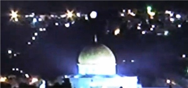 UFO over Dome of the Rock