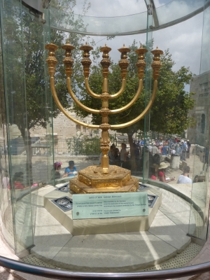 The Menorah that will stand in the rebuilt Jewish Temple