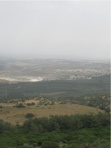 The Jezreel valley viewed from Mt Carmel