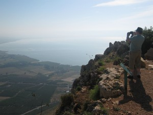View of Galilee from Mt Arbel